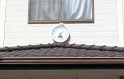公会堂の外壁の時計
