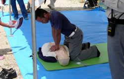 心肺蘇生訓練の写真