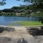 「八幡の渡し」跡 福渡から対岸の建部上を見る