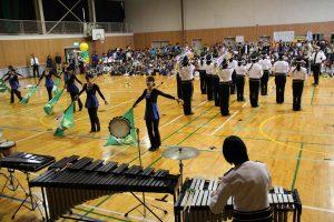 岡山県警音楽隊のドリル演奏