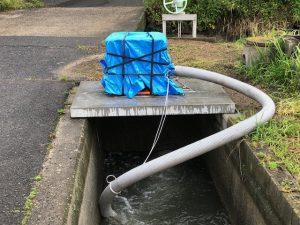 設置された排水ポンプ