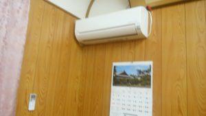 公会堂にエアコンを増設