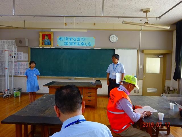 生徒代表の挨拶