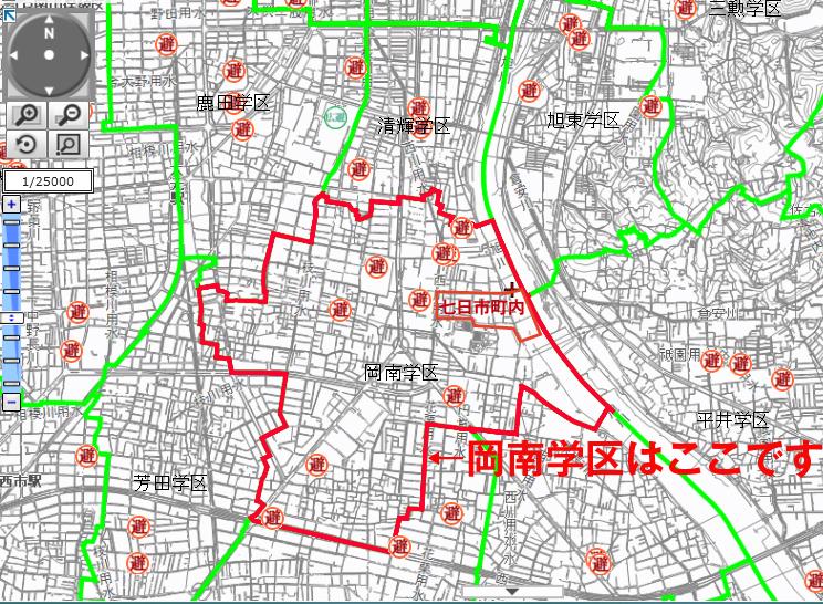 岡南学区避難場所01