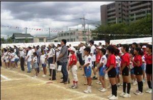 石井学区体育祭の開会式