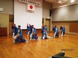 「ソーラン鏡野」によるソーラン踊りの演舞