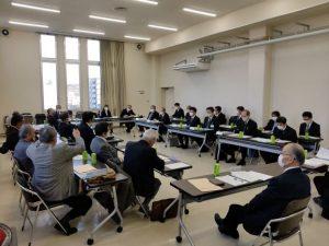 岡山市教育委員会、岡山っ子育成局との 懇談会の様子