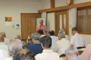 コミュニティ協議会事務局長 西村さん開会の挨拶