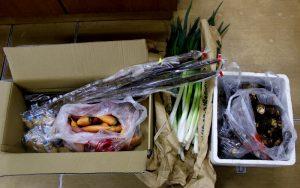 準備された野菜