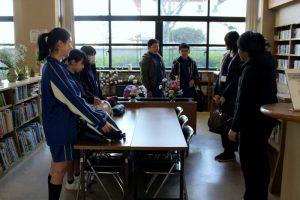 操南中学生ボランティアに公民館から挨拶