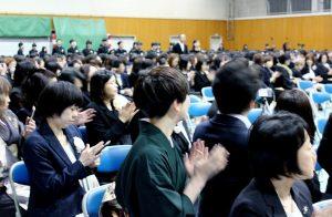 第72回操南中学校卒業式卒業生入場
