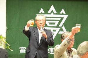 岡本交通安全協議会会長による乾杯の音頭