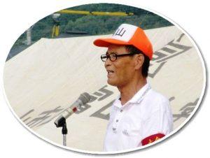 開会の挨拶をする吉田富山体協会長