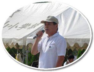 小橋連合町内会長の閉会挨拶