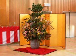 会場を飾った生花