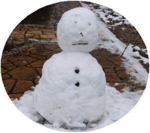 雪だるまがお見送り