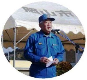 内田分団長代理の訓練の説明
