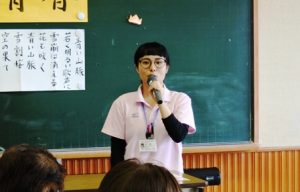 介護予防センターの事業を説明する山口仁美さん