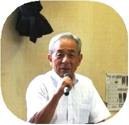 富山学区防犯協議会 濱邊会長