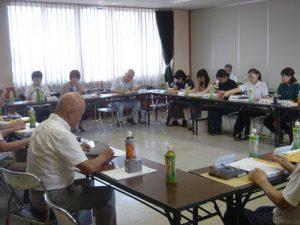 富山小地域ケア会議の様子