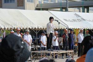 廣畑富山小学校長の来賓代表挨拶