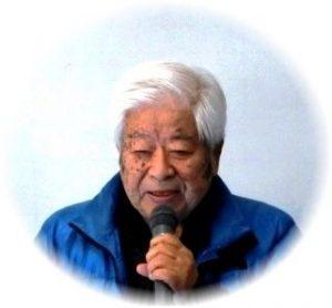 挨拶する湯浅コミュニティ協議会会長