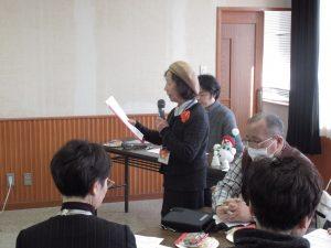 開会のあいさつをする福森和子さん