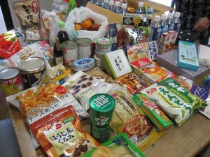 集まった食品