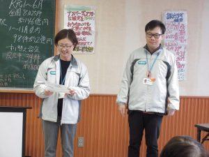 地域包括支援センターの山下さん(左)と佐藤さん