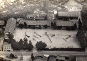 昭和36年頃の富山小学校空撮写真