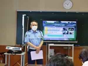 中央警察署前田警部補の講話
