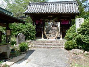 吉備津岡辛木神社の茅の輪