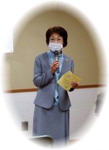 司会の橋本靖恵さん