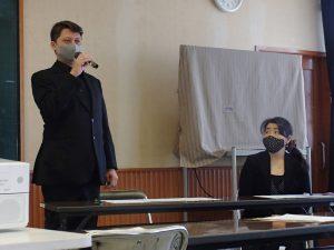ダミアン クウェチェックさんと奥様の秋山延子さん
