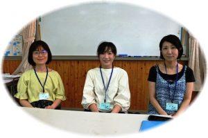 左から副代表:湯淺奈美さん、代表:井上万由子さん、副代表:長尾美紀さん